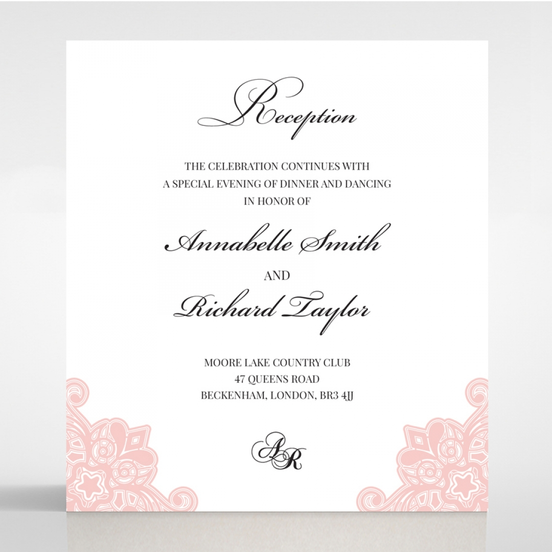 Blooming Charm reception enclosure invite card design