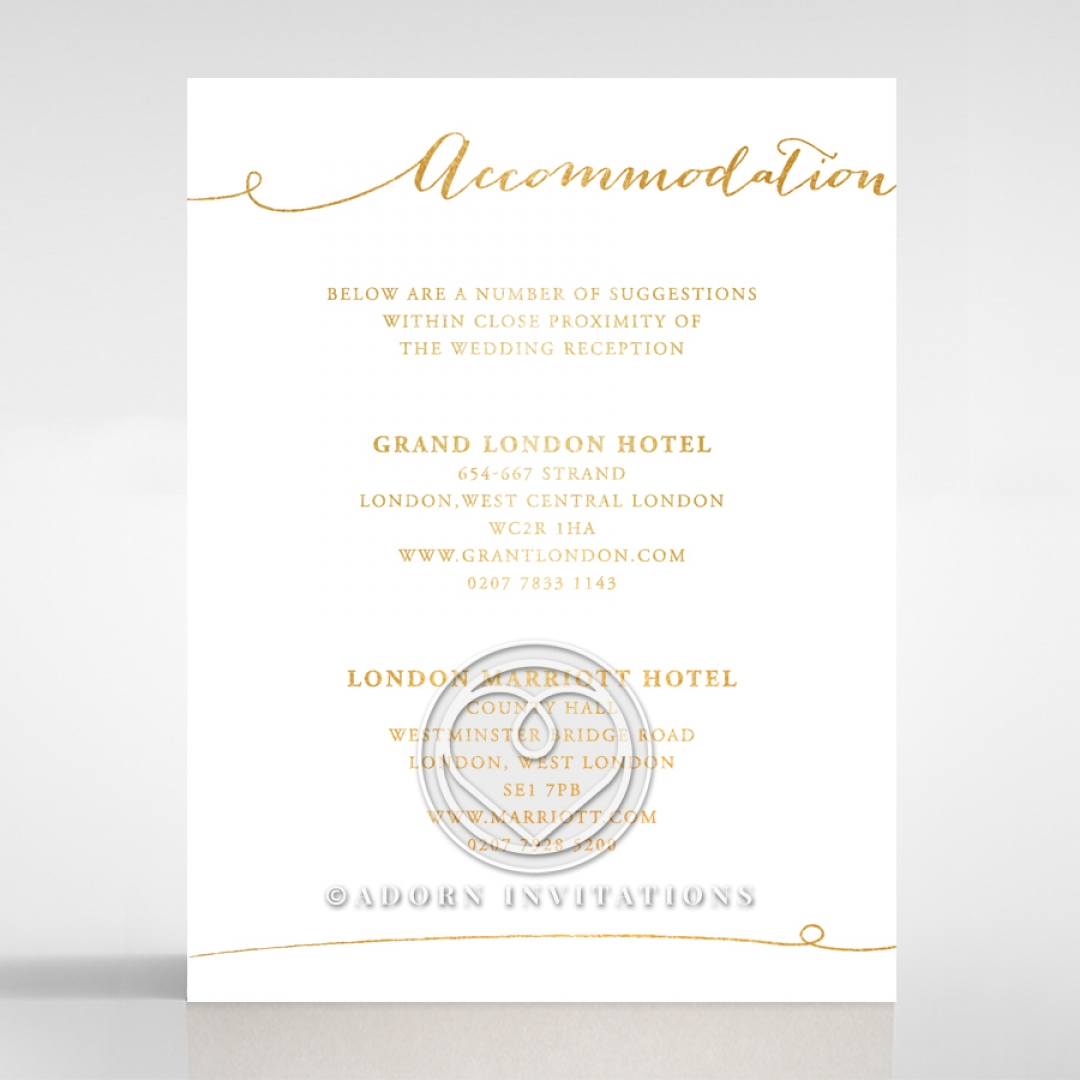 classy chic contemporary infinity accommodation cards