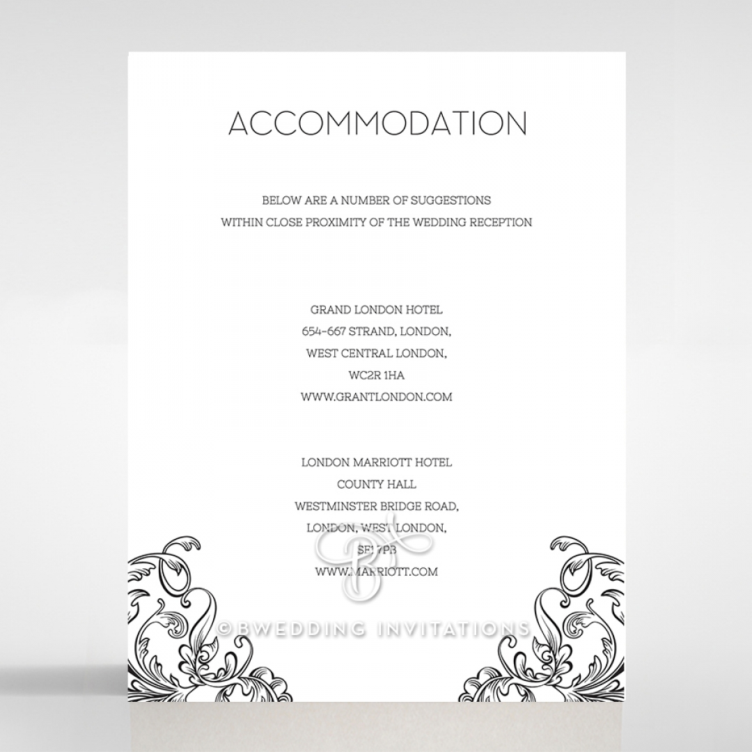 Paper Aristocrat accommodation invite card