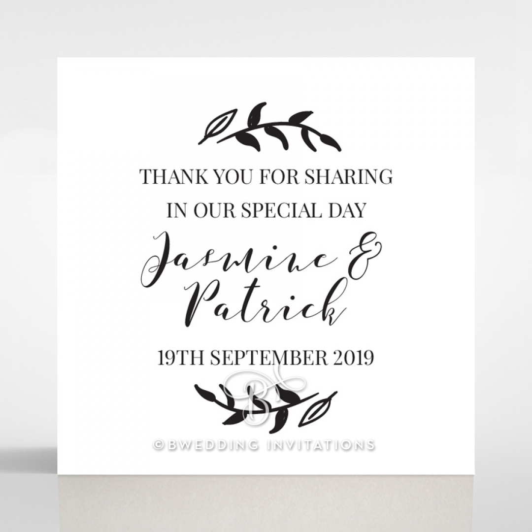 Forever Love Booklet - Navy wedding gift tag stationery