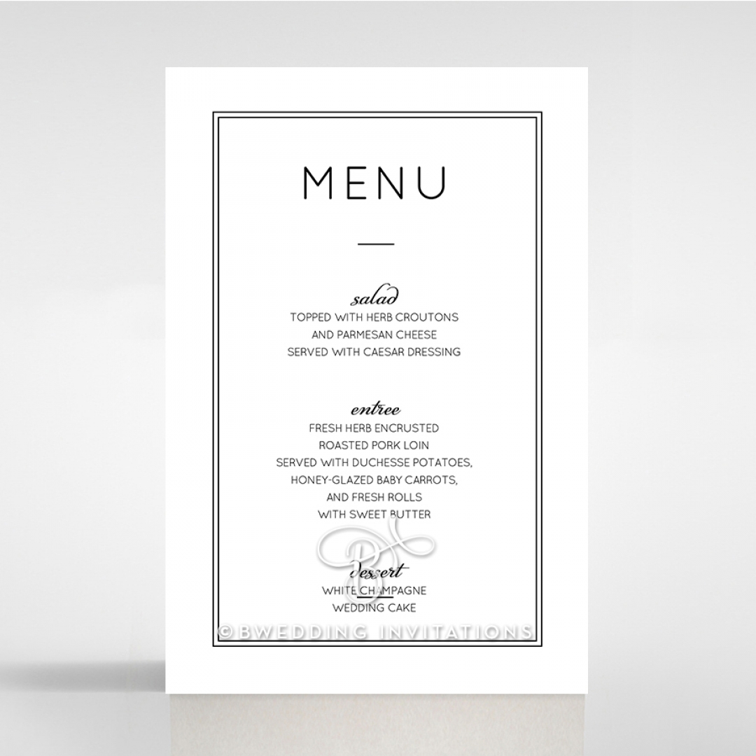 Luxe Paper Elegance table menu card stationery design