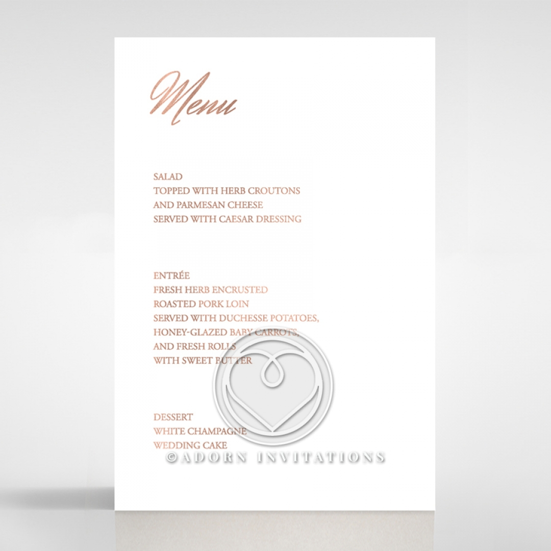 Foiled on the day stationery simple rose gold menu cards marble minimalist wedding venue menu card design dm116115 stopboris Choice Image