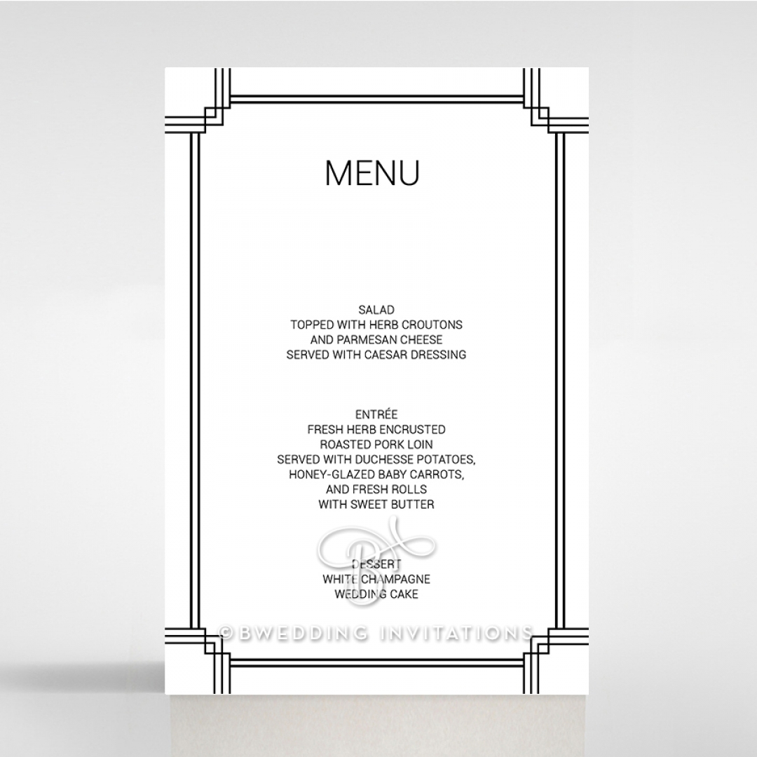 Paper Gilded Decadence wedding table menu card stationery item