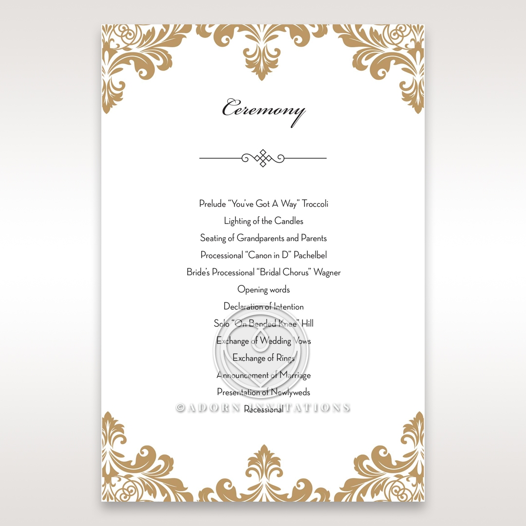 golden-antique-pocket-order-of-service-ceremony-stationery-card-DG11090