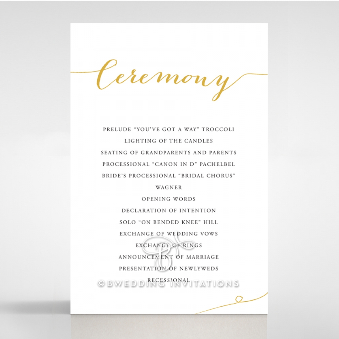 Infinity order of service stationery invite card