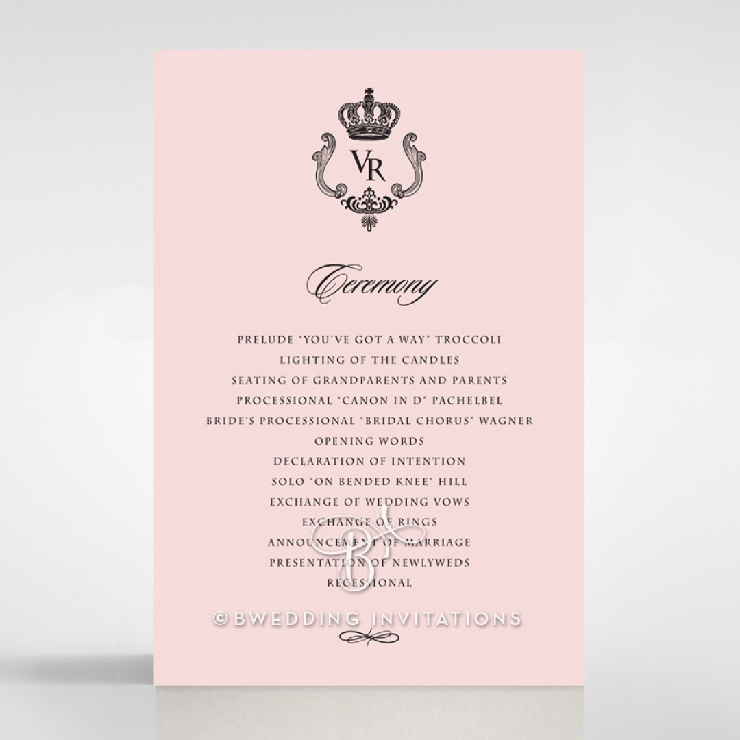 Ivory Victorian Gates order of service invite card
