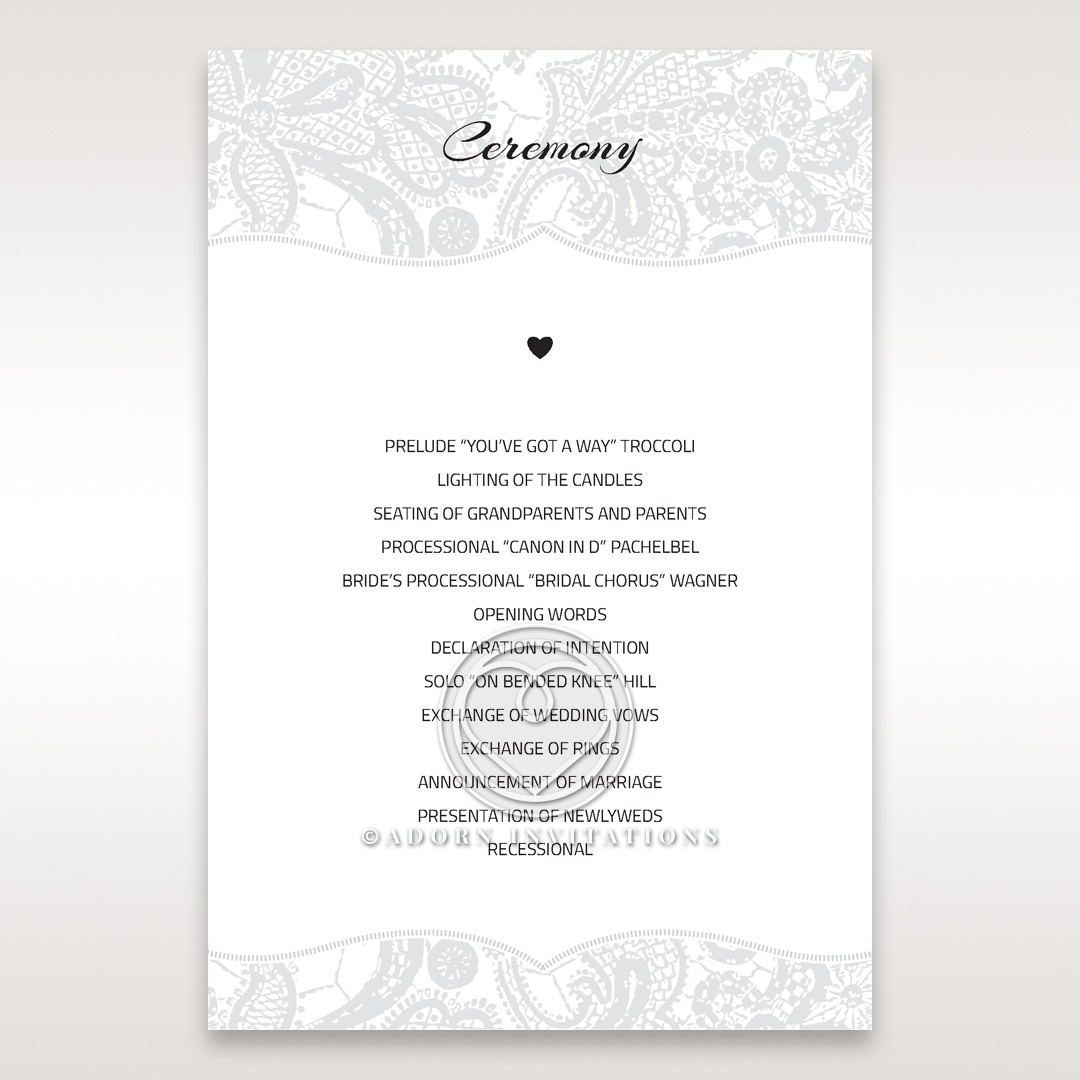 luxurious-embossing-with-white-bow-wedding-order-of-service-card-DG13304