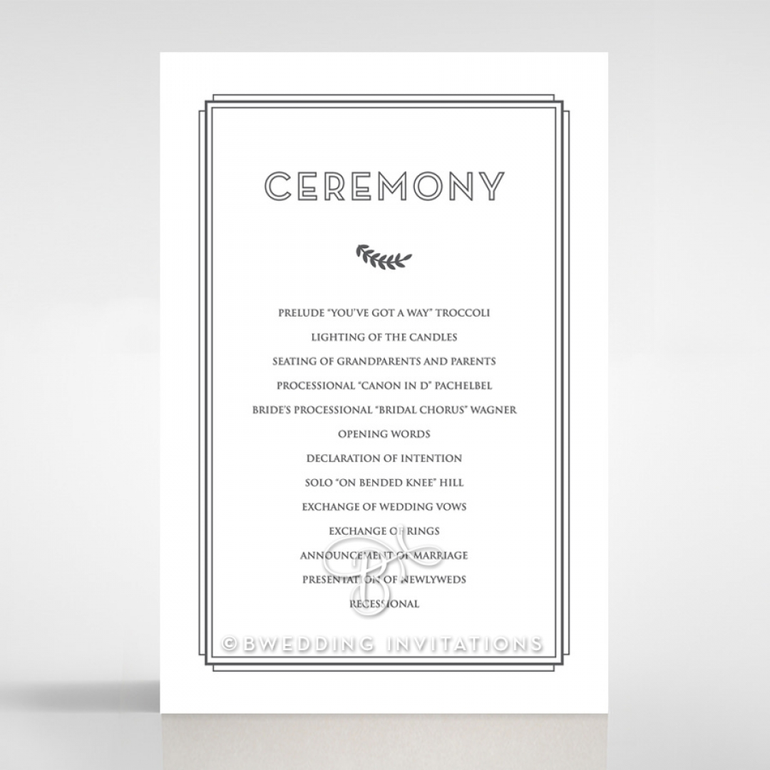 Playful Love order of service invitation