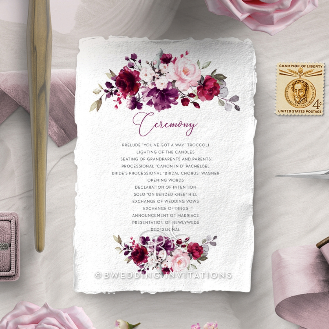 Their Fairy Tale order of service card