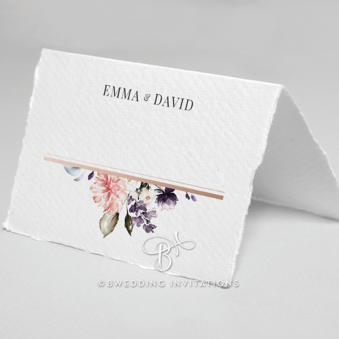 Enchanting Florals wedding reception table place card