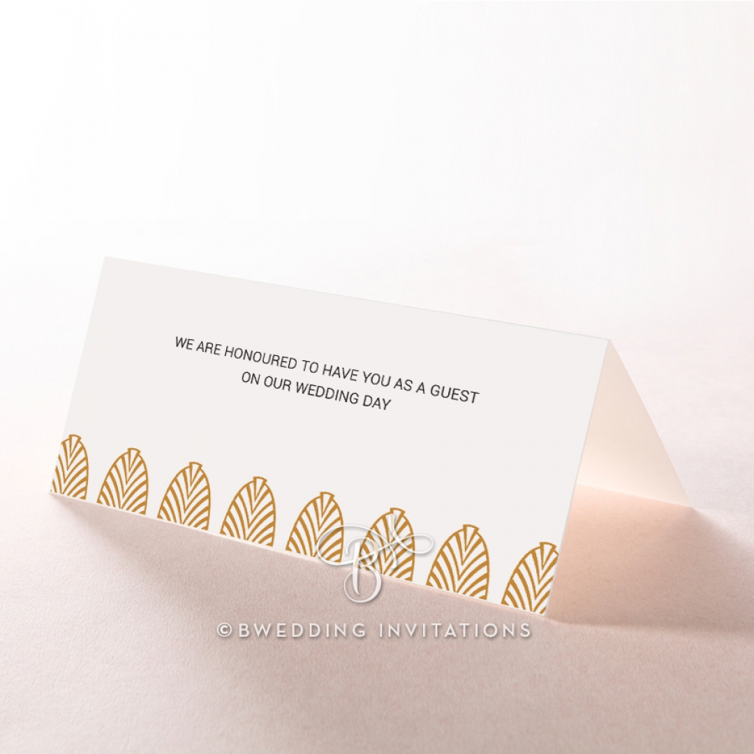 Gilded Decadence wedding place card stationery