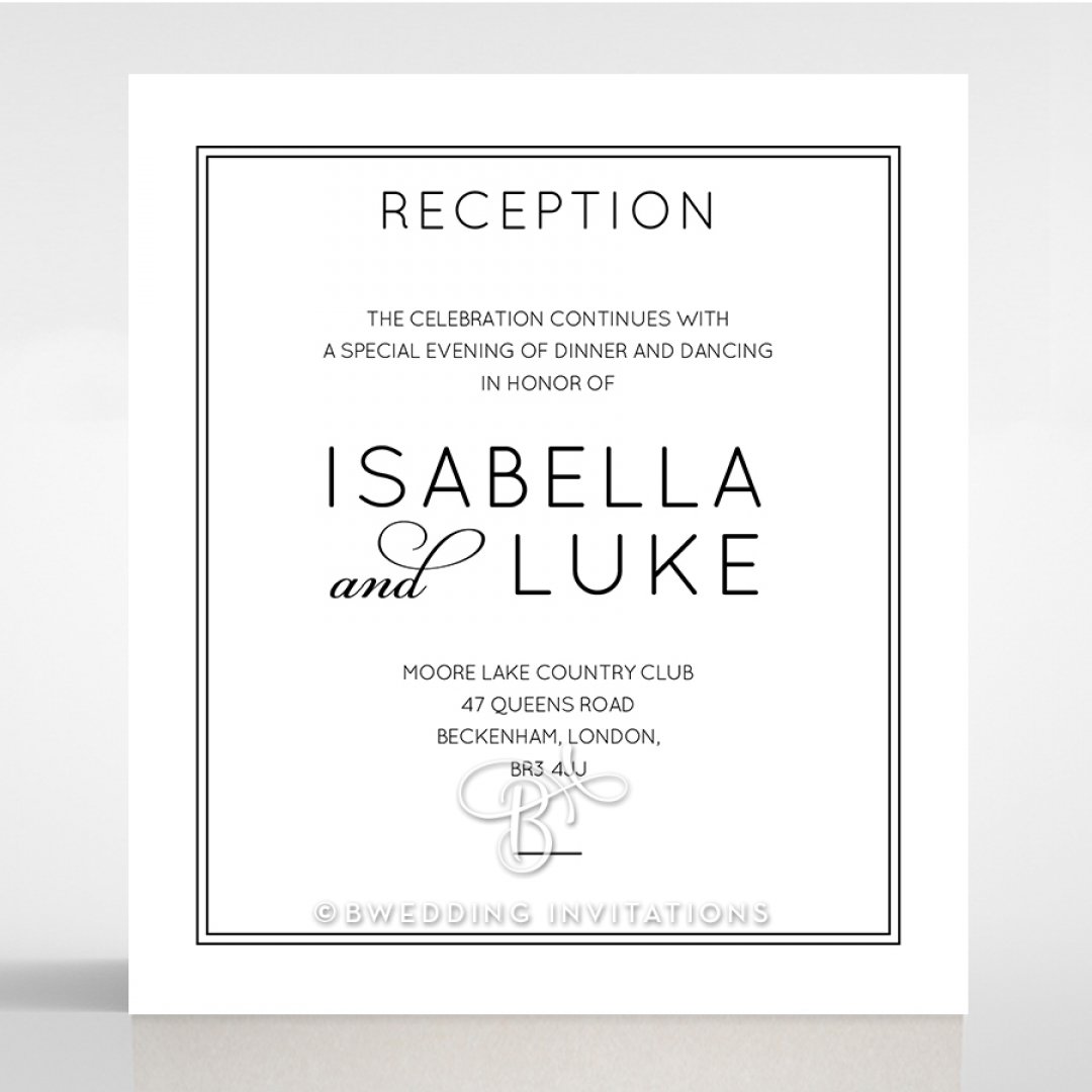 Luxe Paper Elegance reception stationery card design