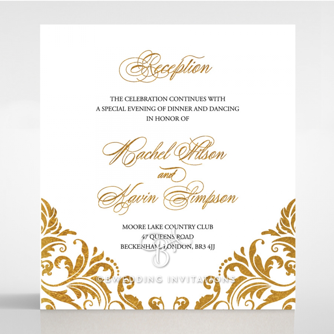 Victorian Extravagance with Foil reception enclosure stationery card design