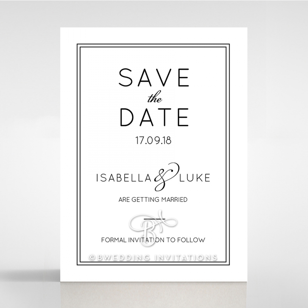 Luxe Paper Elegance save the date wedding card