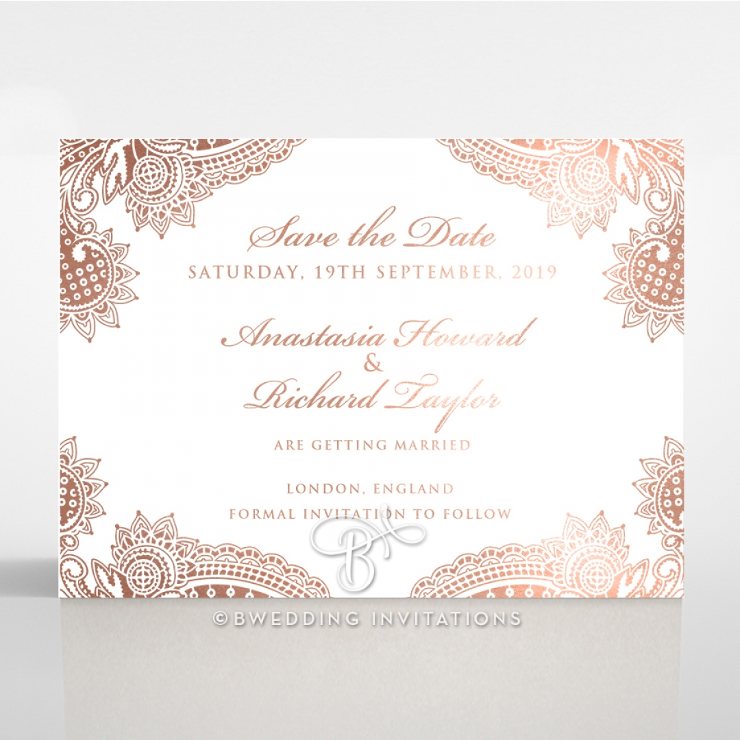 Regal Charm Letterpress with foil save the date invitation stationery card item
