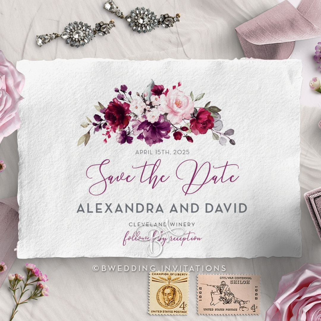 Their Fairy Tale wedding save the date card