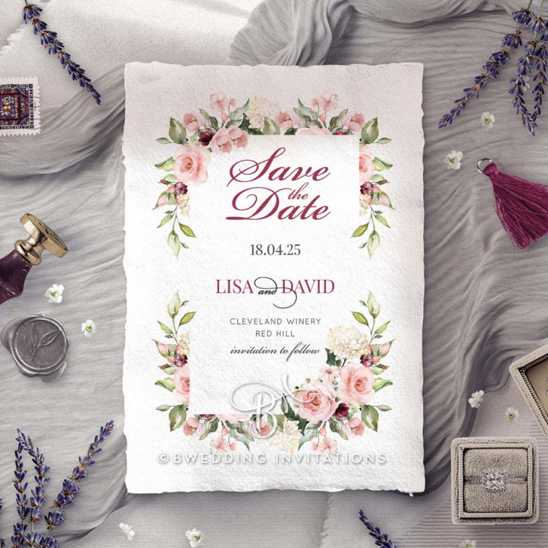 Vines of Love save the date invitation card