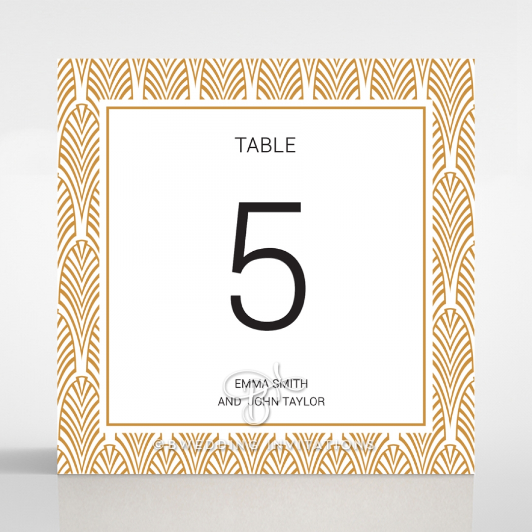 Gilded Decadence wedding table number card stationery item