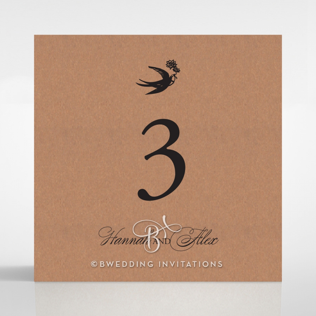Precious Moments wedding reception table number card stationery item
