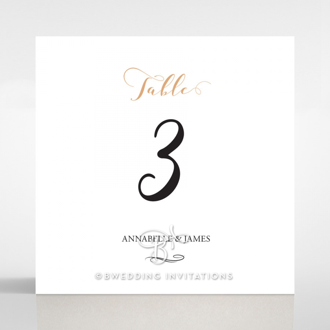 Written In The Stars - Navy wedding venue table number card stationery item