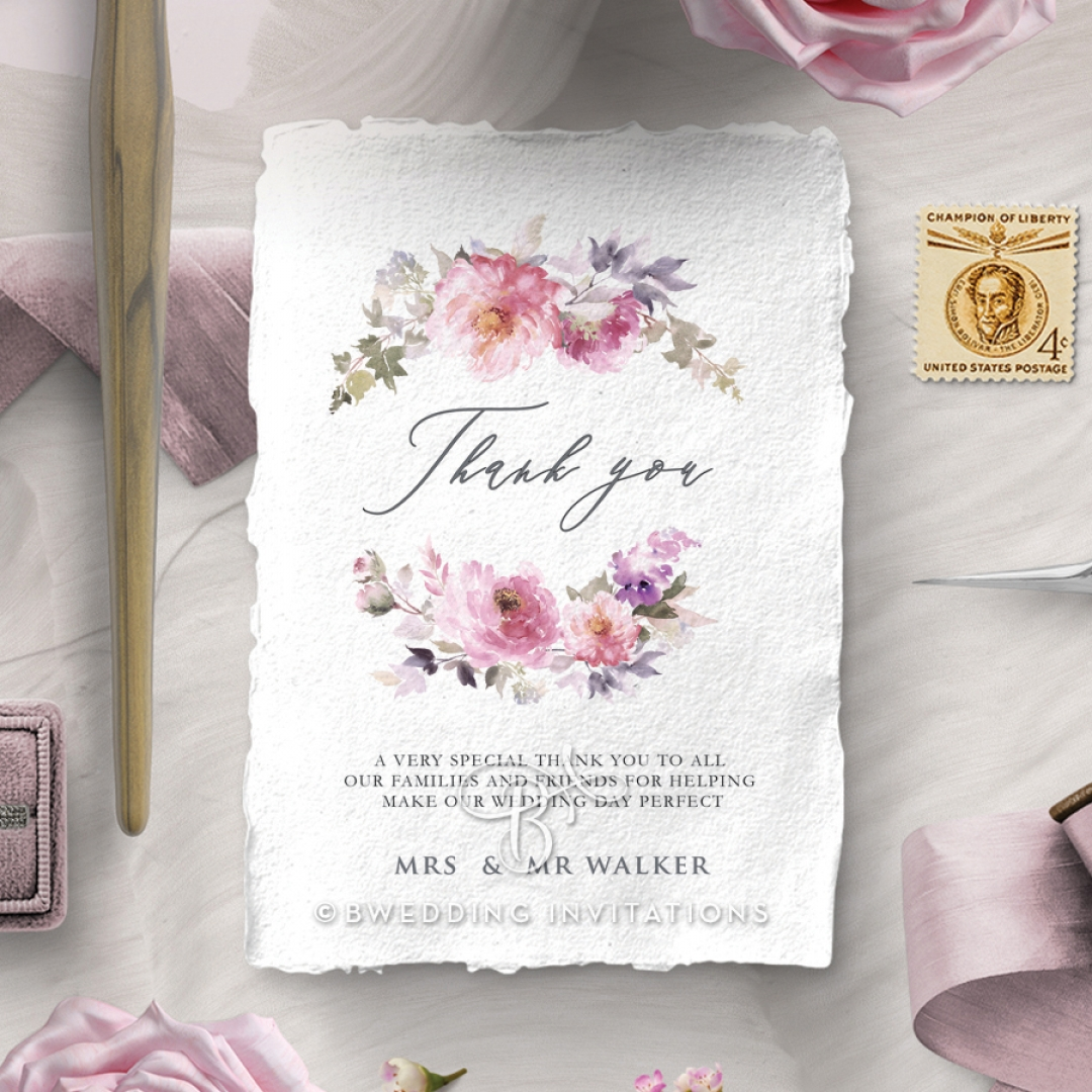 Happily Ever After thank you invitation card