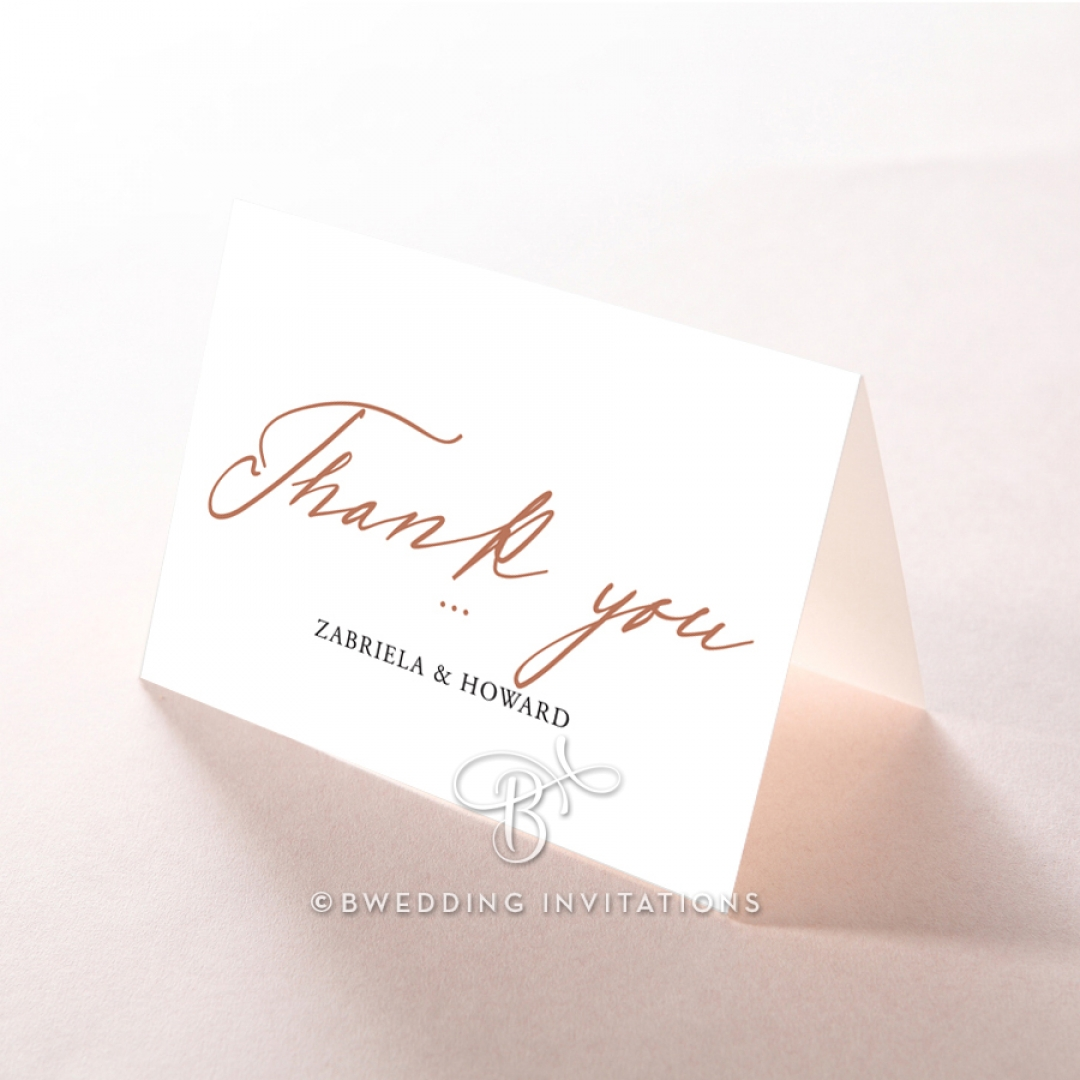 Sunburst wedding thank you stationery card design