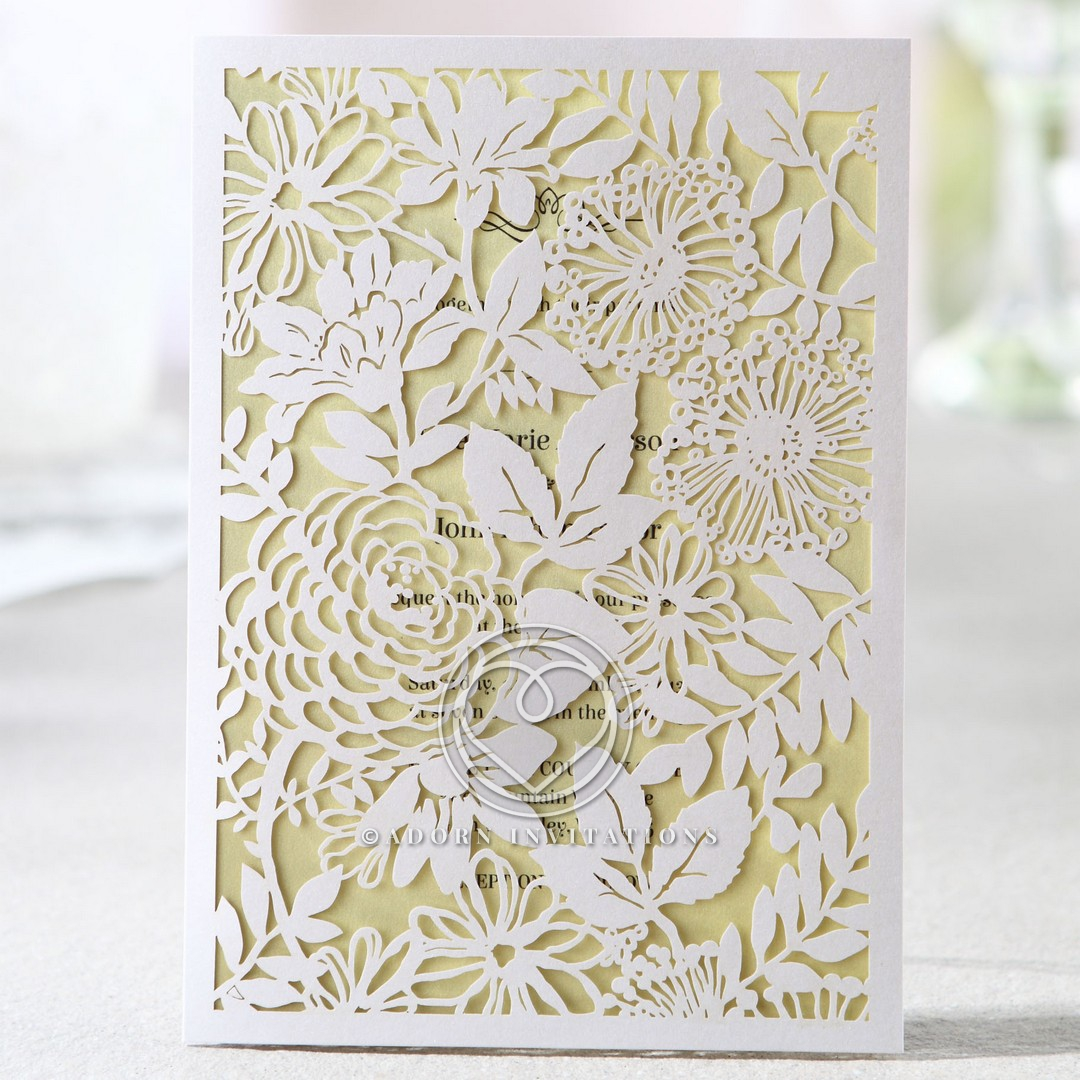 Laser Cut Garden, Flowers and Leaves on Full Frame, Charming
