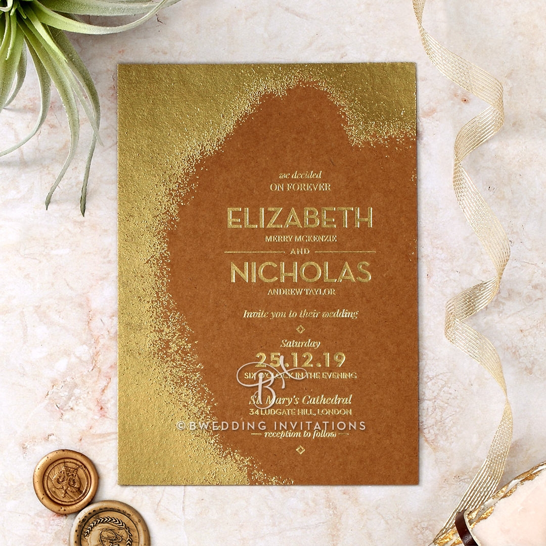 Dusted Glamour Stationery invite
