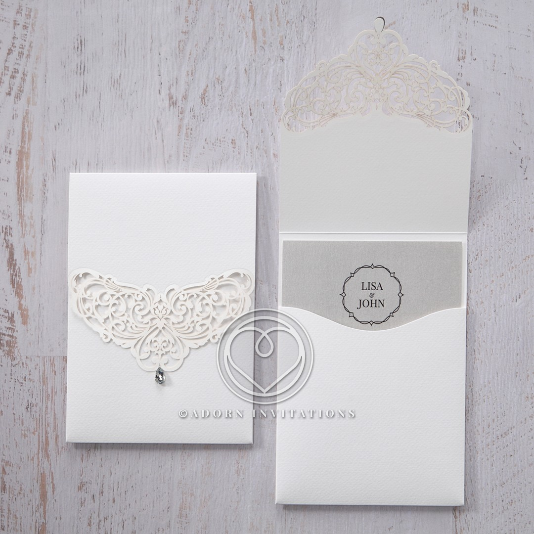 Elegant Crystal Lasercut Pocket Invite Design Pwi114010 Sv