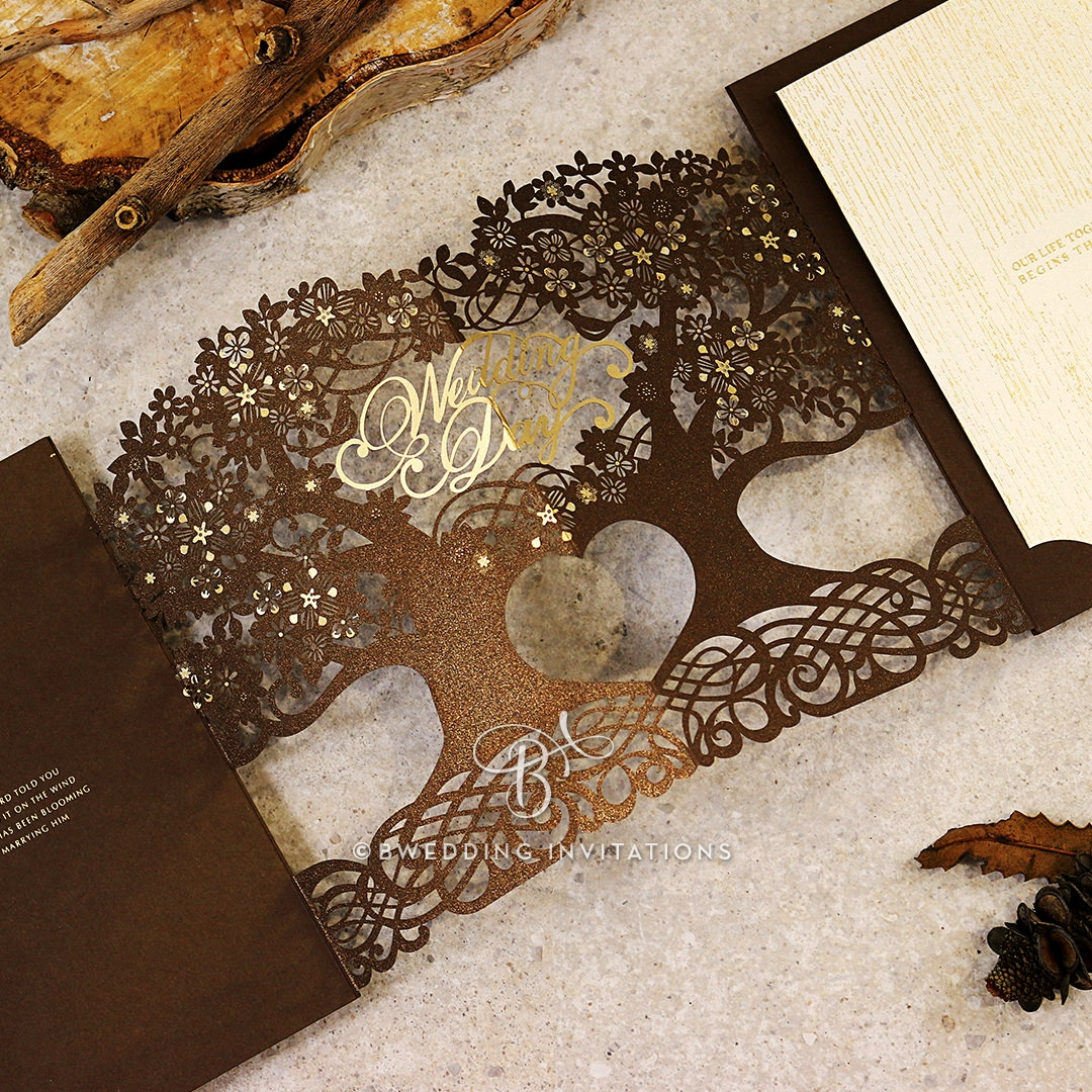 Enchanting Forest Wedding Invite Card