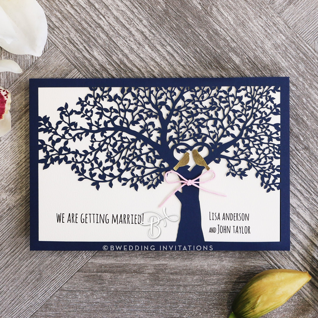 Forest Love Wedding Invitation Design