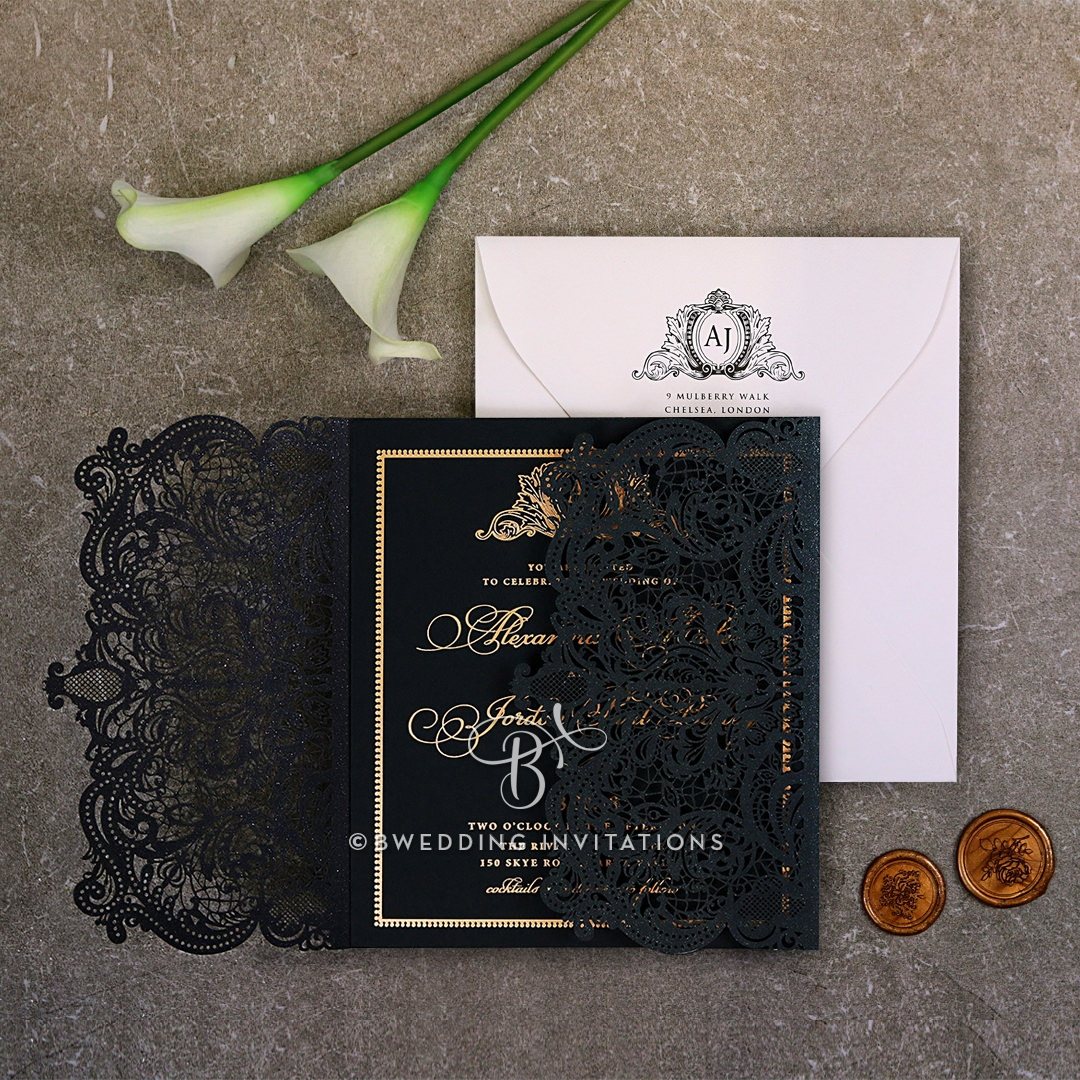 Luxe & Lavish | Laser Cut and Foil Wedding Invitation