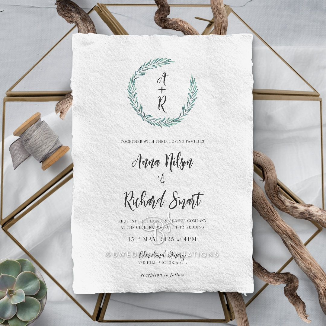 Modern Garland Stationery card