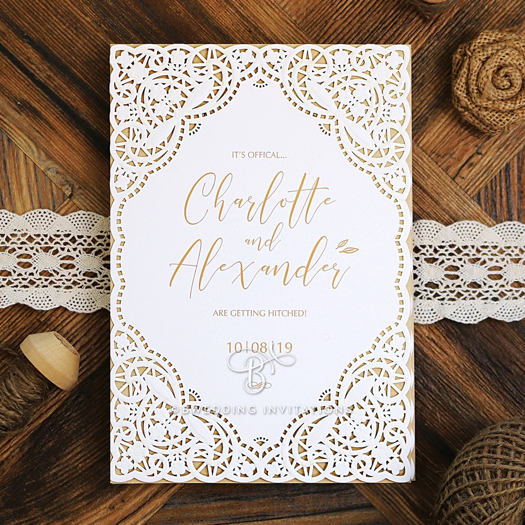 Wedding Invitation - Rustic Elegance / BH5164 / Sample Only | eBay