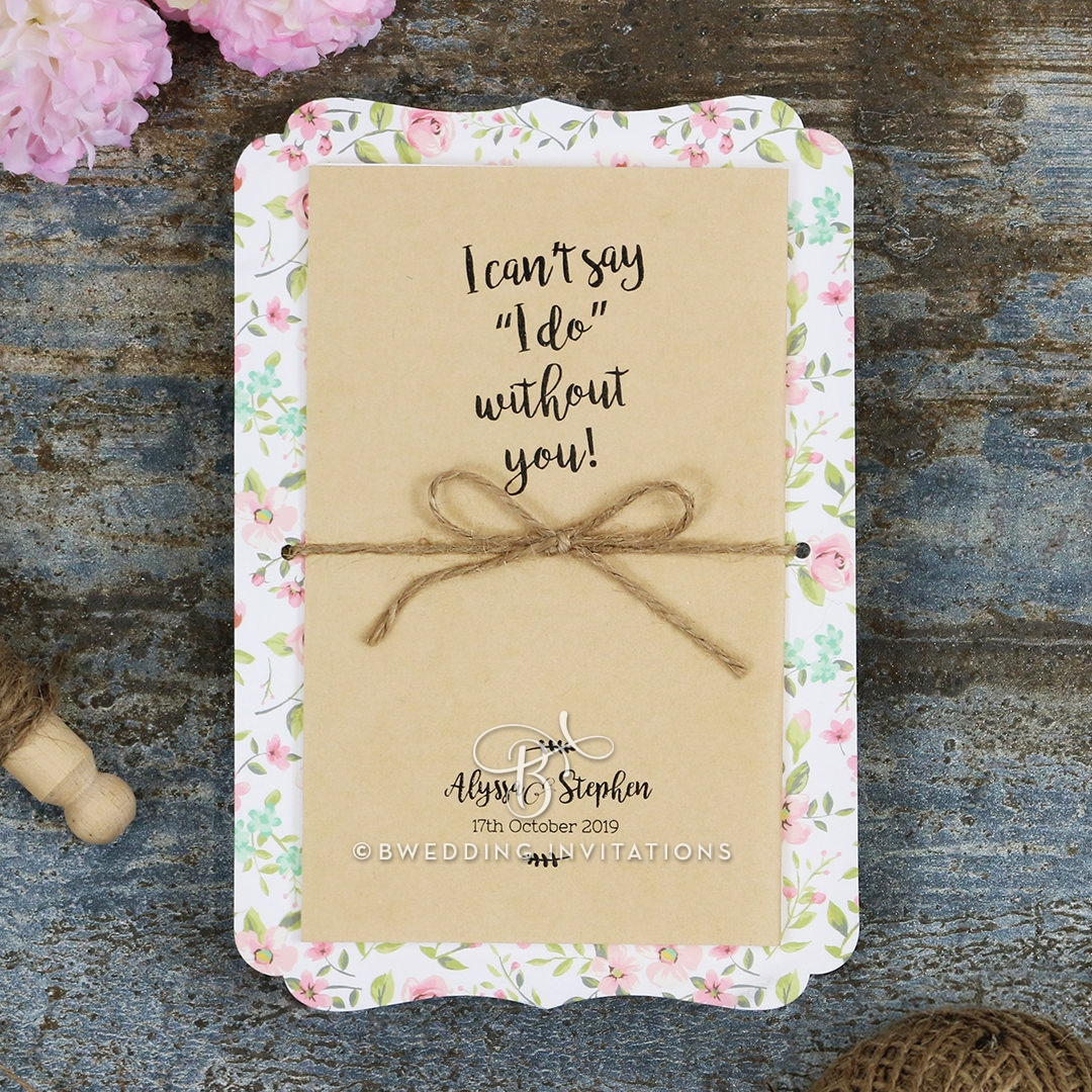 Sweetly Rustic Invite Card Design