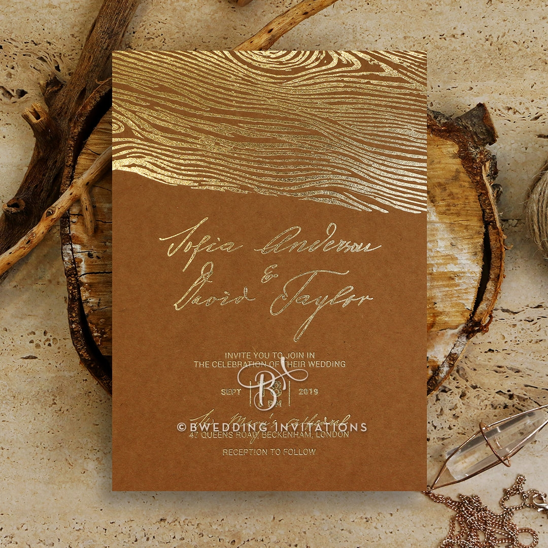 Timber Imprint Stationery card design