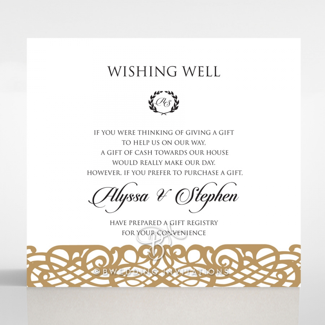 Enchanting Forest wedding wishing well enclosure invite card design