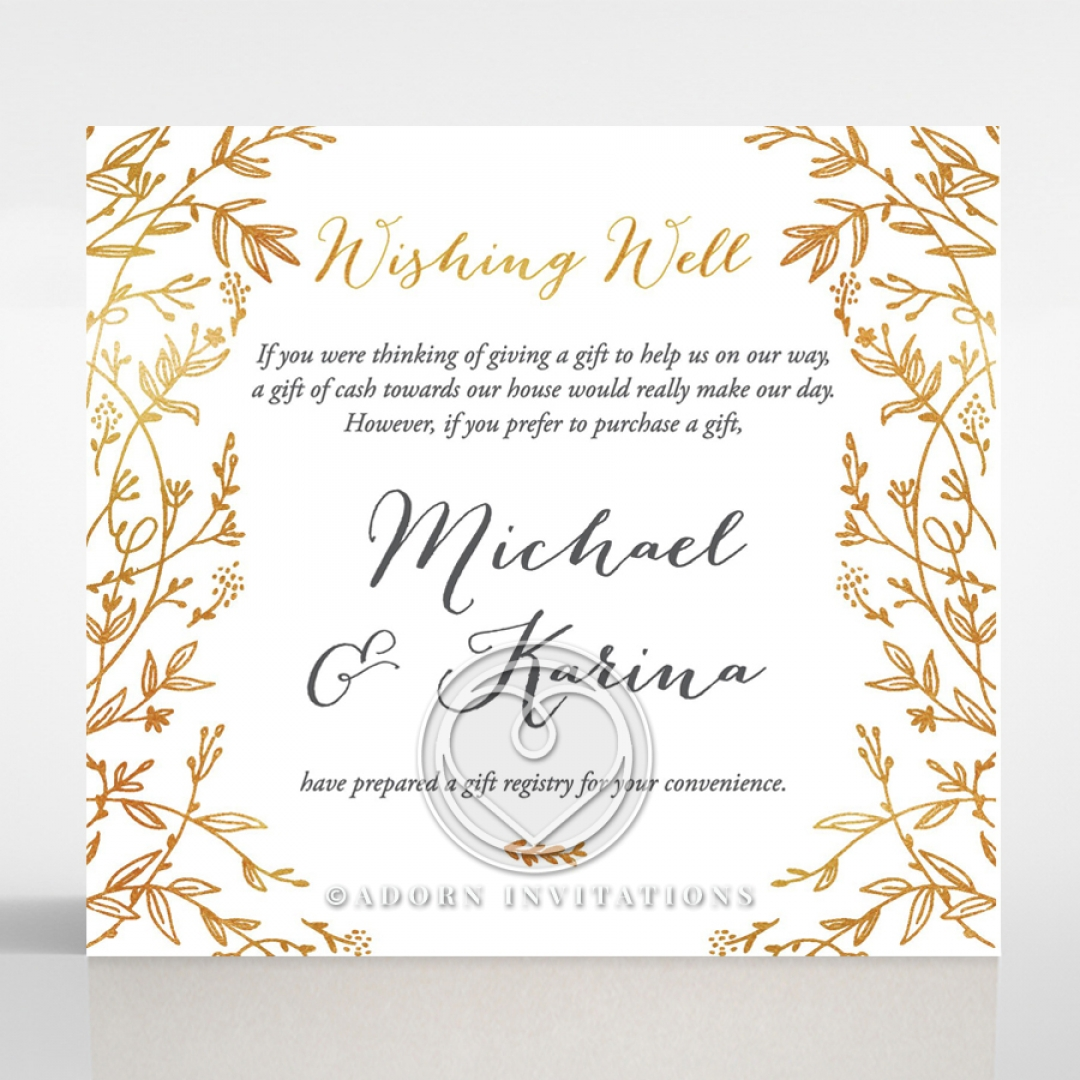 Golden Spring Blooms | Garden Themed Wishing Well Cards
