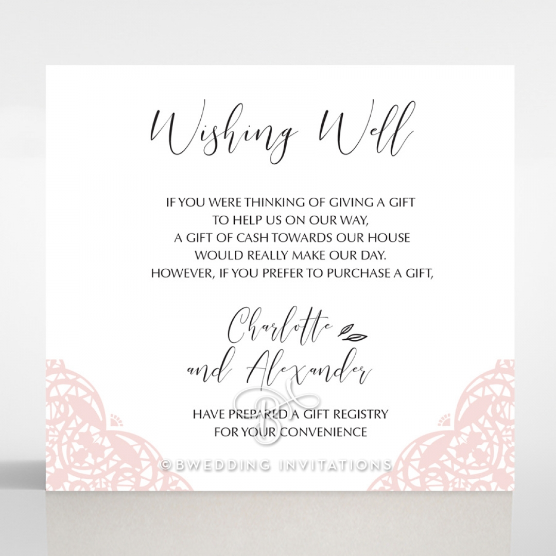 Rustic Elegance wedding wishing well invitation card