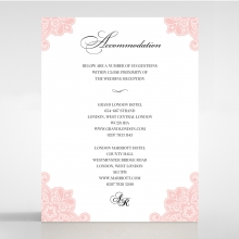 Blooming Charm wedding accommodation invite card design