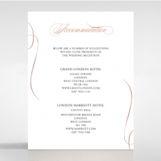 A Polished Affair wedding accommodation invitation