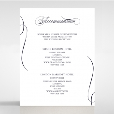 A Polished Affair wedding accommodation invitation card