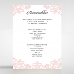 Baroque Pocket wedding accommodation card