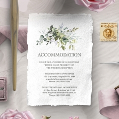 Beautiful Devotion accommodation enclosure card design