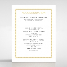 Black Doily Elegance wedding stationery accommodation card design