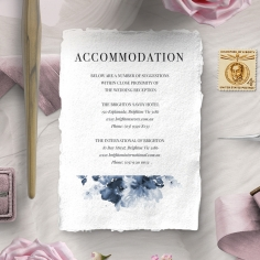 Dusty Watercolour accommodation stationery invite