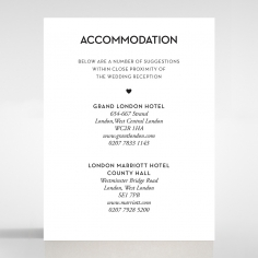 Frosted Chic Charm Paper wedding stationery accommodation invitation