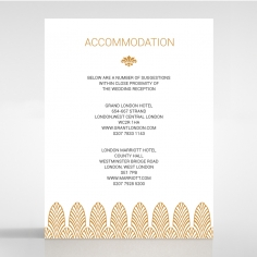 Gilded Decadence wedding stationery accommodation card design