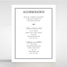 Golden Baroque Gates wedding accommodation enclosure card design