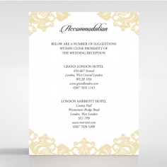 Golden Baroque Pocket wedding accommodation card design
